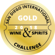 San Diego Wine and Spirits Challenge 2018 - médaille or