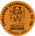 Médaille bronze Challenge International du Vin de Blaye 2015