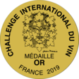 médaille or - Challenge International du Vin - Blaye