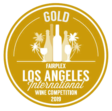 médaille or Los Angeles  international wine competition