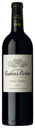 bouteille château Couhins-Lurton rouge 2013