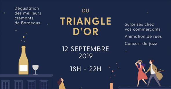 Affiche Triangle d'Or et crémants de Bordeaux